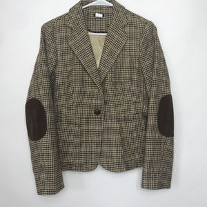 J.Crew Blazer 100% wool Elbow Patches Cinch Waist